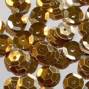 Value Pack 50g 8mm Metallic Gold Semi-cupped Sequins.